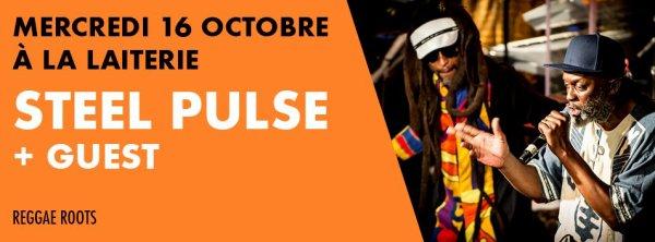 """Mercredi 16 octobre """" Steel Pulse """" à la Laiterie de Strasbourg"""