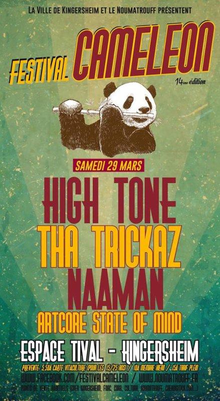 "Samedi 29 mars 2014 ""Artcore State Of Mind, Nâaman, The Trickaz, High Tone"" à l'éspace Tival Kingersheim"