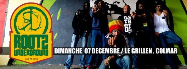 """Dimanche 7 décembre 2014 - """"Fyah Max, Rootz Underground"""" au Grillen de Colmar"""
