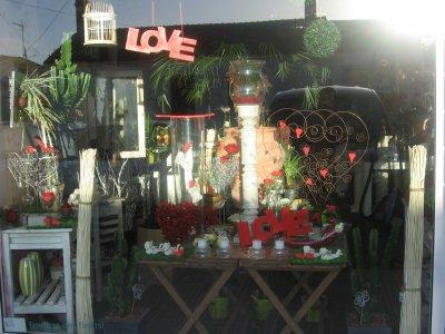 vitrine saint valentin fleur moi. Black Bedroom Furniture Sets. Home Design Ideas