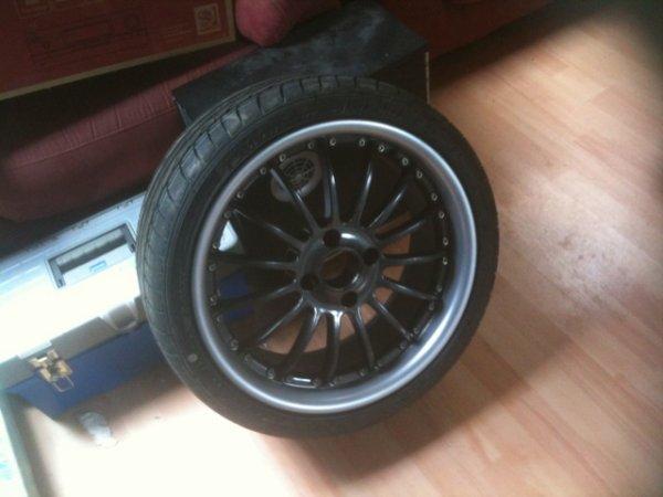 les pneus sont monter !