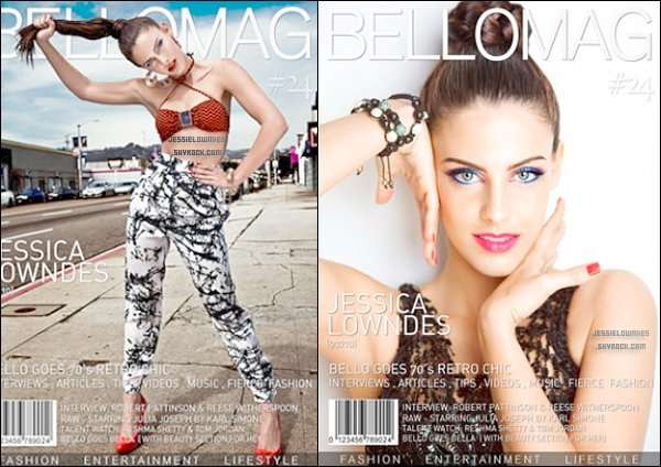 """Jessica pour le magazine """"Bello"""" . Tu aimes ?"""