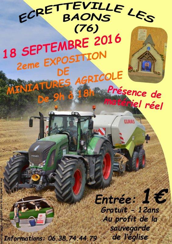 2eme exposition de miniatures agricole à Ecretteville les baons (76)