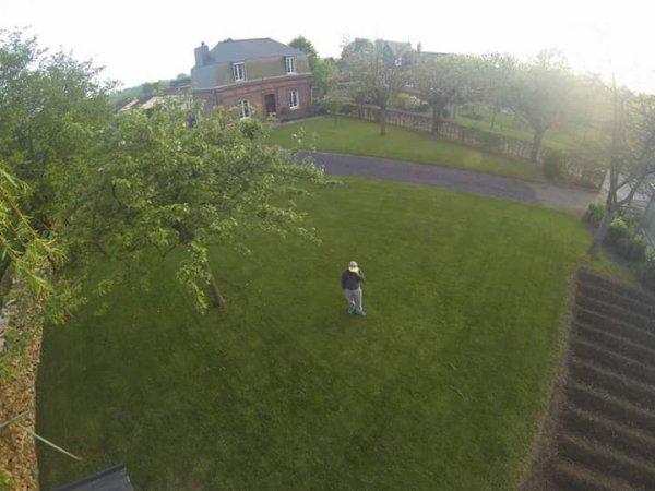 Mon matos photo (vue d'en haut de la perche)