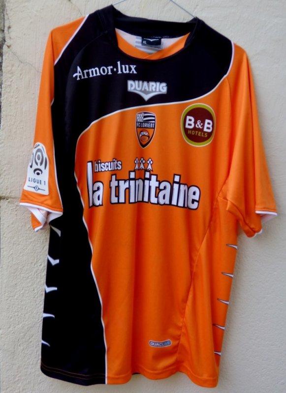 MAILLOT FC LORIENT 2010-2011 Morgan AMALFITANO porté contre l'ASSE  06.11.10