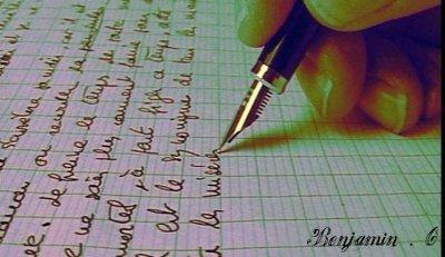 Un instant d'écriture