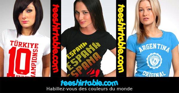 TEESHIRTABLE.COM : HABILLEZ VOUS DES COULEURS DU MONDE