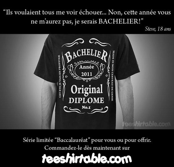"""Série Limitée """"Baccalauréat"""" sur teeshirtable.com"""