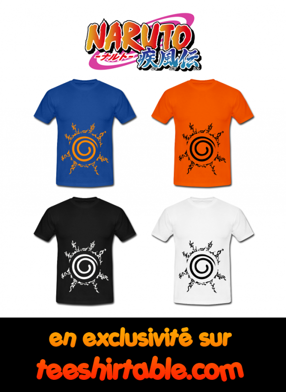 Préparez la 3e guerre Ninja avec les tee shirts Naruto sur le lien suivant : http://teeshirtable.spreadshirt.fr/orokamono-gaiden-C203124