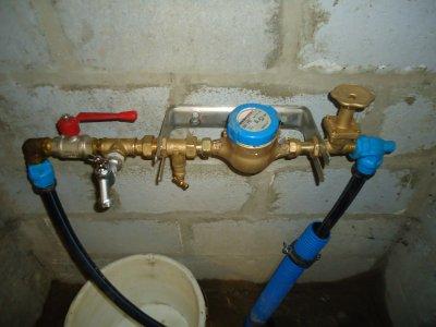 travaux réaliser par la commune pour notre installation d'eau