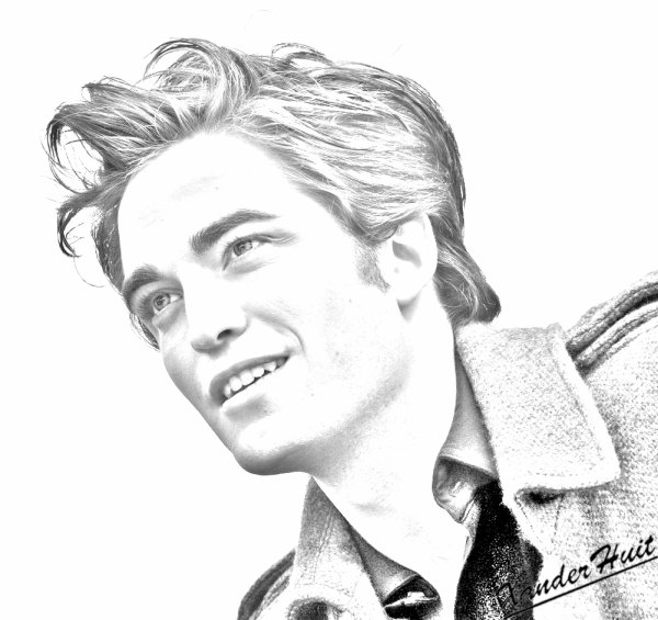 Portrait Robert Pattinson by XanderHuit