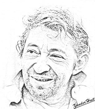 Portrait Serge Gainsbourg by XanderHuit