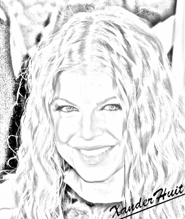 Portrait Fergie by XanderHuit