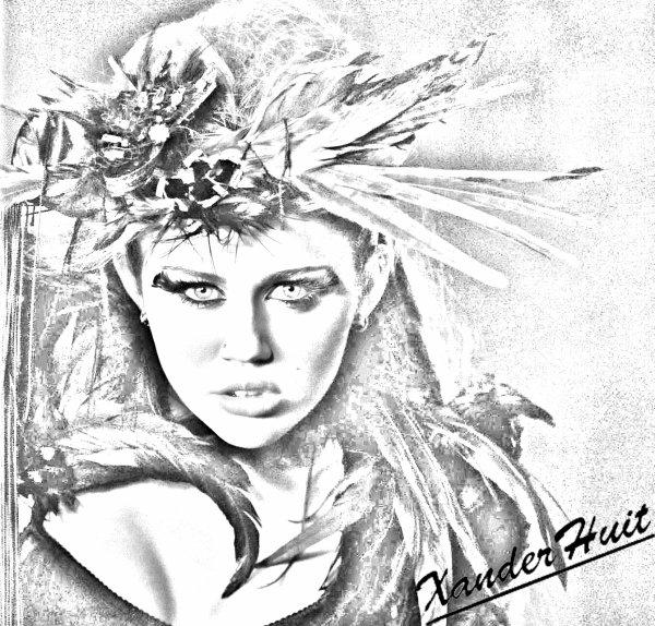 Portrait Miley Cyrus by XanderHuit
