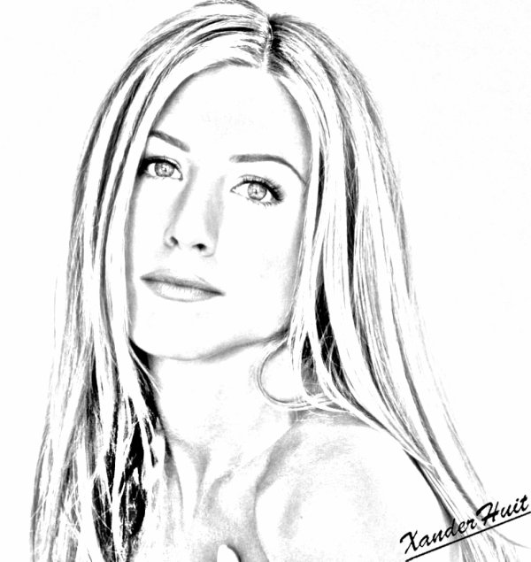portrait jennifer aniston by xanderhuit xanderhuit stars dessin. Black Bedroom Furniture Sets. Home Design Ideas