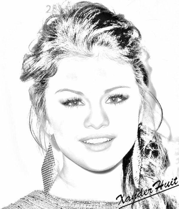 Portrait selena gomez by xanderhuit xanderhuit stars dessin - Selena gomez dessin ...