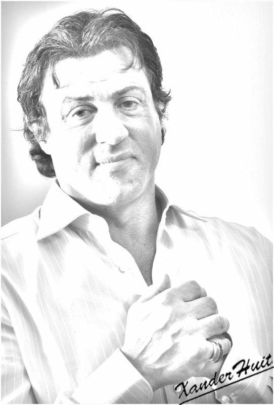 Portrait Sylvester Stallone by XanderHuit