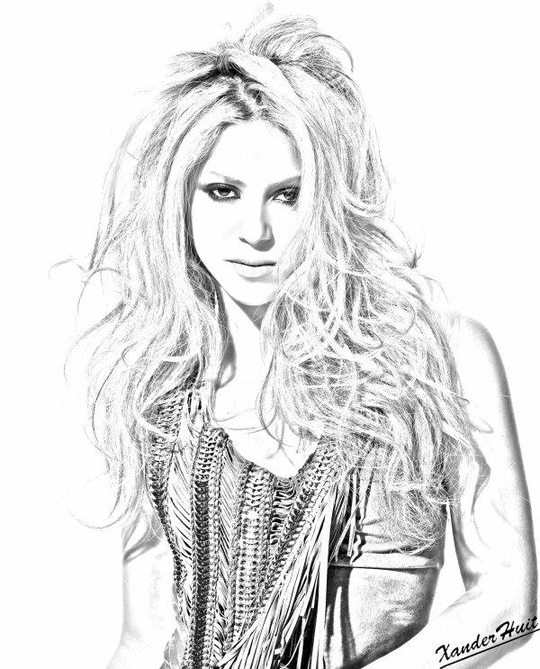 Portrait Shakira by XanderHuit