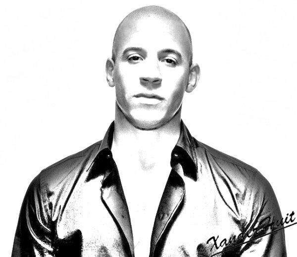 Portrait Vin Diesel by XanderHuit