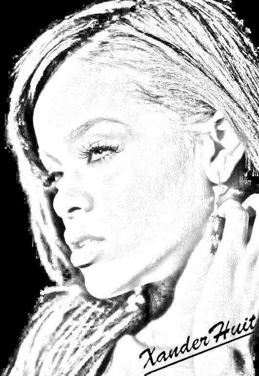 Portrait Rihanna by XanderHuit