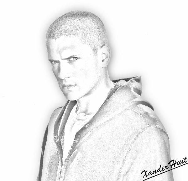Portrait Wentworth Miller by XanderHuit