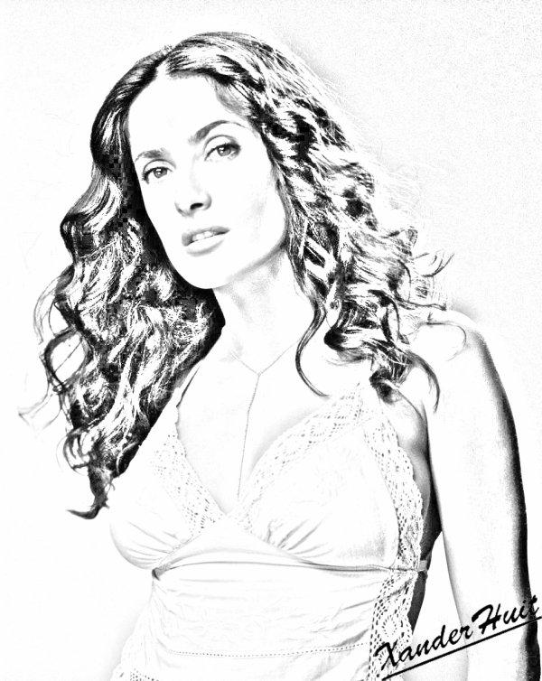 Portrait Salma Hayek by XanderHuit