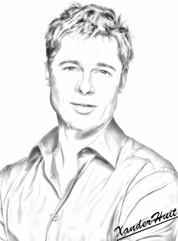 Portrait Brad Pitt by XanderHuit
