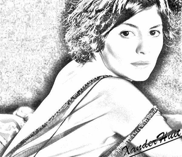 Portrait Audrey Tautou by XanderHuit