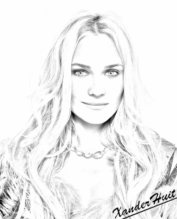 Portrait Diane Kruger by XanderHuit