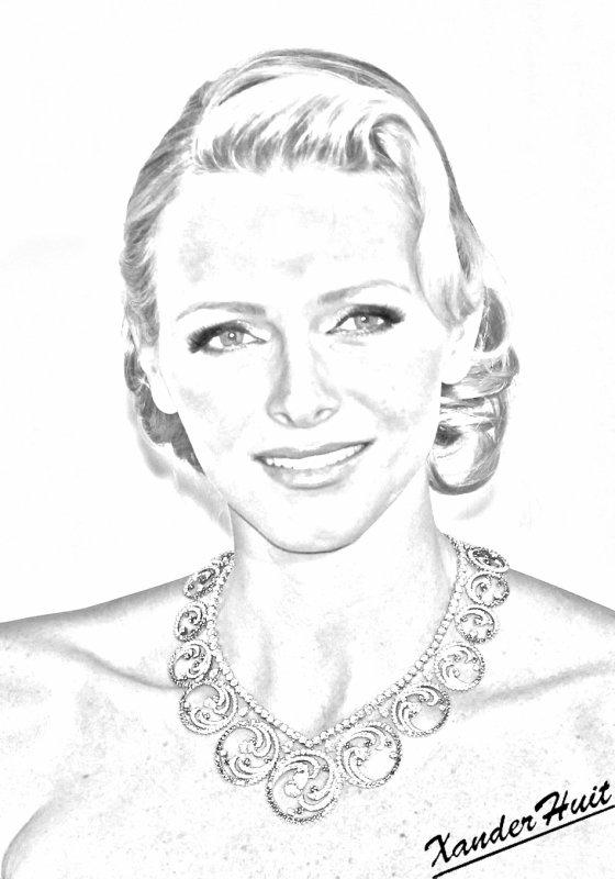 Portrait Charlene Wittstock by XanderHuit