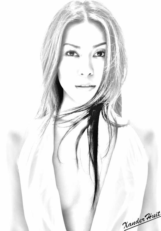 Portrait Anggun by XanderHuit