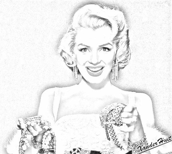 Portrait Norma Jean Baker (Marylin Monroe) by XanderHuit