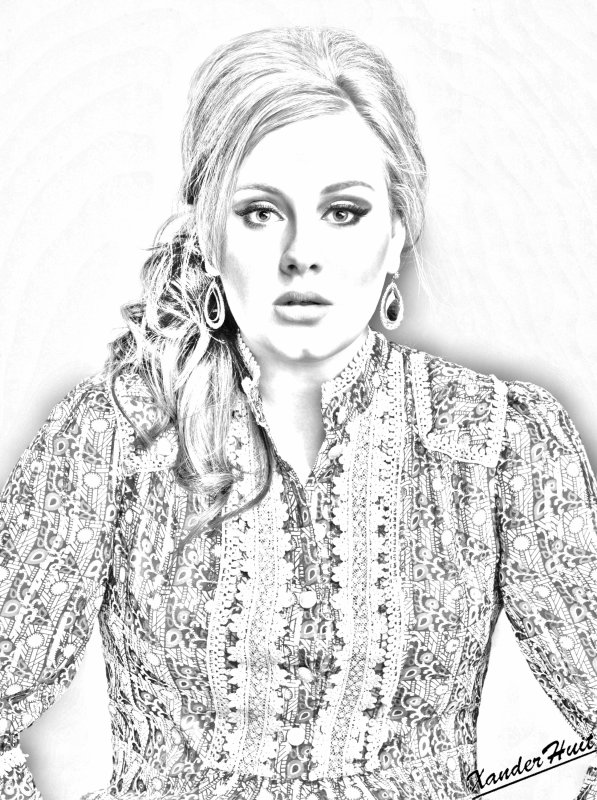 Portrait Adele by XanderHuit