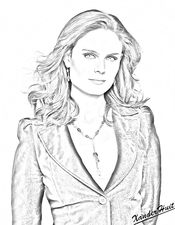Portrait Emily Deschanel by XanderHuit