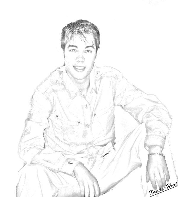 Portrait Gregory Lemarchal by XanderHuit