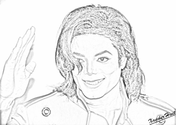 Portrait Michael Jackson by XanderHuit