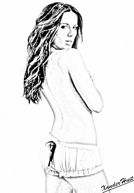 Portrait Kate Beckinsale by XanderHuit