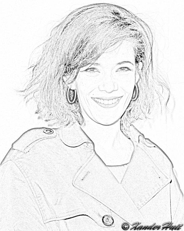 Portrait Mélanie Doutey by XanderHuit