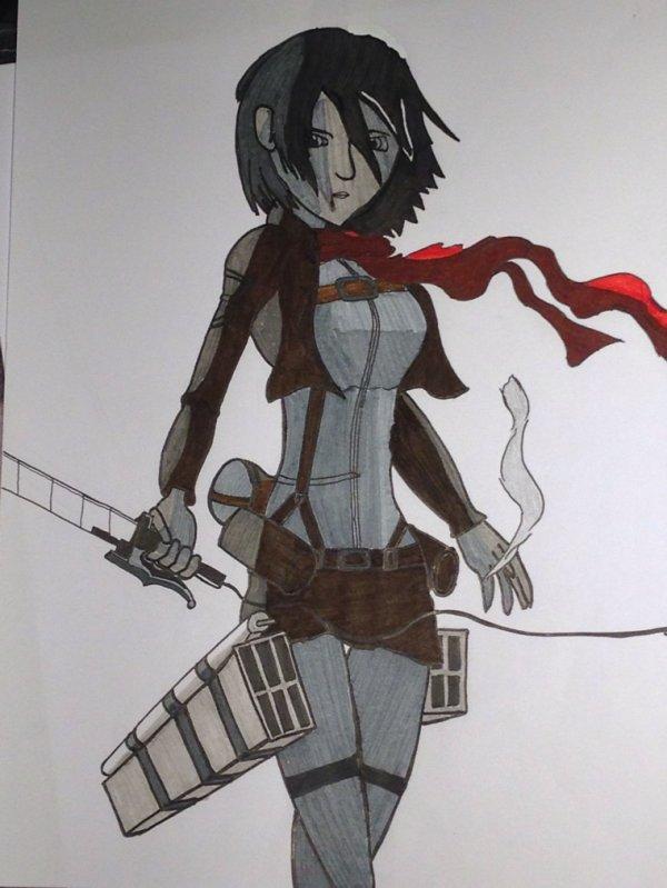 Mikasa/attaque des titans