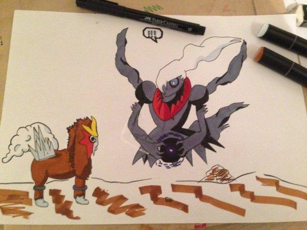 deux pokemons badass B)