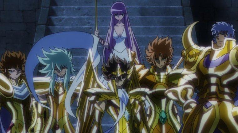 Les Chevaliers d'Or dans Omega