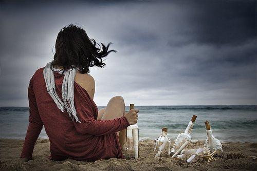 L'anorexie, les TCA , comme un message à la mer.