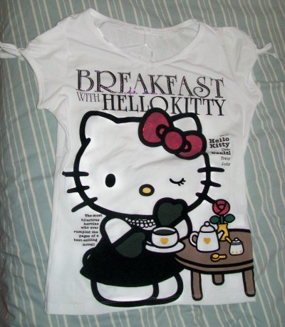 tee shirt oysho hello kitty