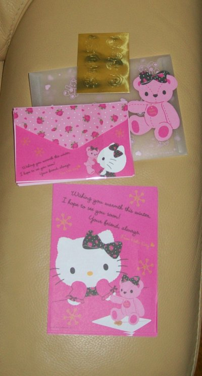 letter set kitty message