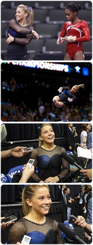 "Shawn Johnson: ""I might not be at the top yet, but I plan to be there in a year."""