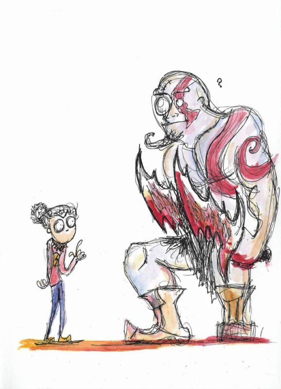 Tiny girl vs Kratos!