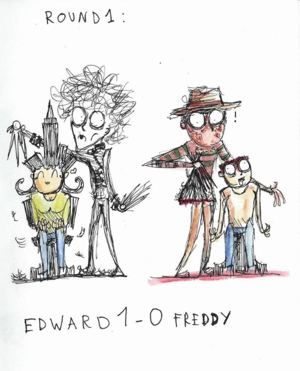 Edward vs Freddy- Round 1!