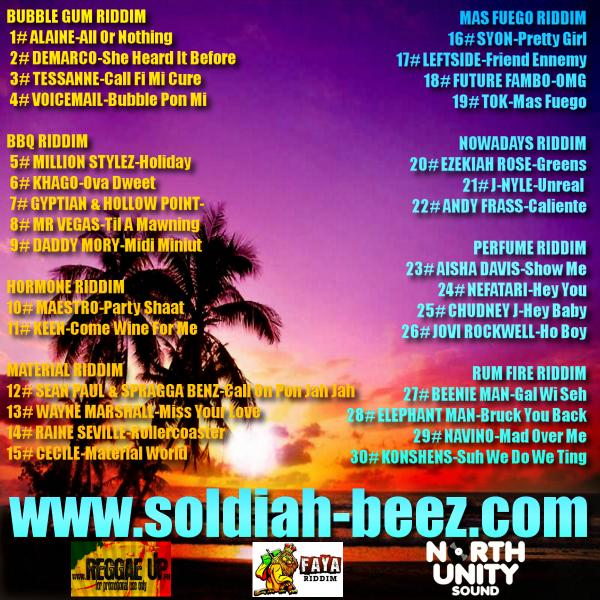 North Unity Sound-Dancehall Rythm(July 2k12)
