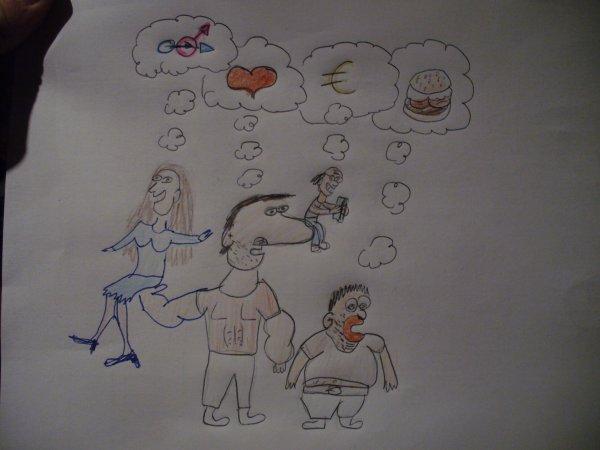 Voici un dessin des rêves de l'équipe...