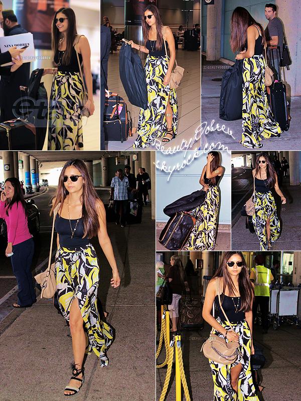 Candids |  7 Septembre 2012 > Nina a été aperçu à l'aéroport de Toronto au Canada